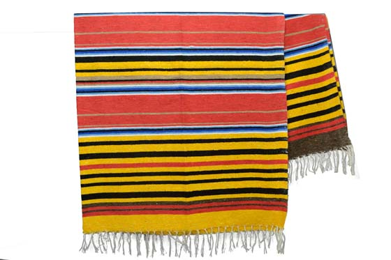 Couverture mexicaine -  Serape - XL - Jaune