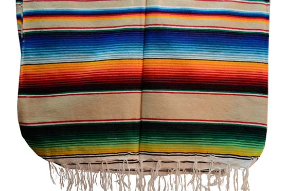 Couverture mexicaine -  Serape - XL - BBBZZ0beige