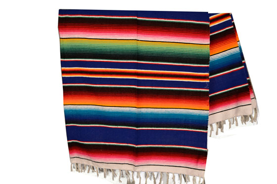 Mexican blanket,Serape. Blue