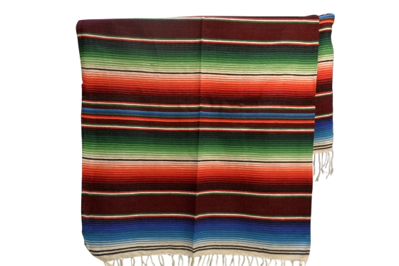 Coperta messicana -  Serape -  XL -  Marrone
