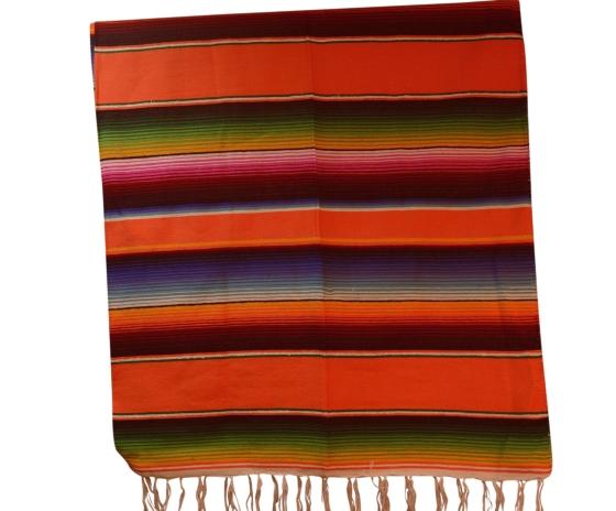 Mexican blanket, Serape. Orange