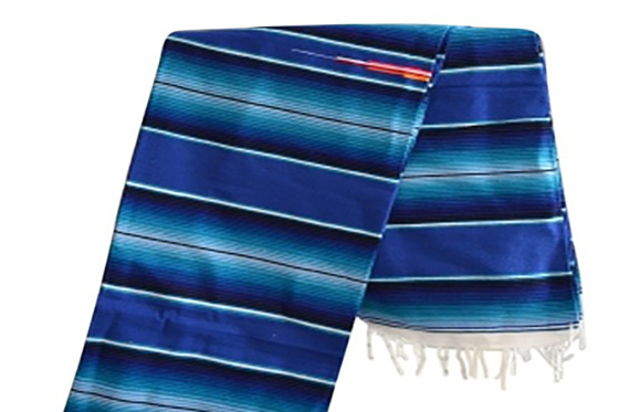 Mexican blanket, Serape. Blue