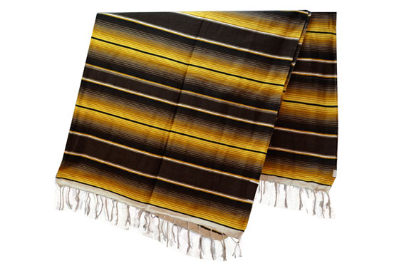 Mexican blanket,Serape. Brown