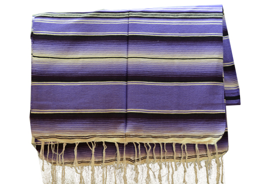 Mexican blanket, Serape. Violet