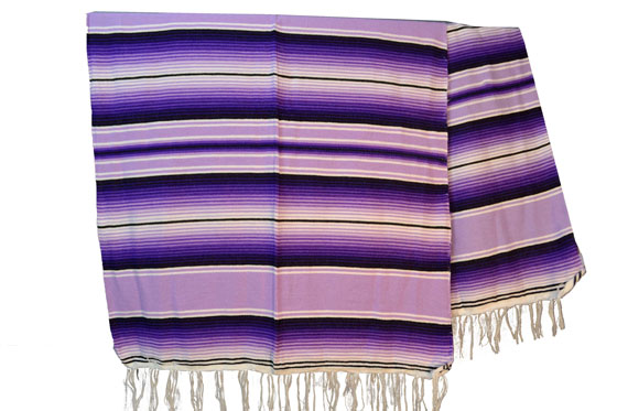 Couverture mexicaine -  Serape - XL - Violet