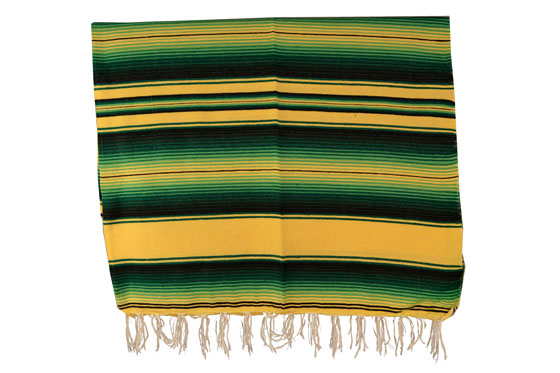 Mexican blanket, Serape. Yellow