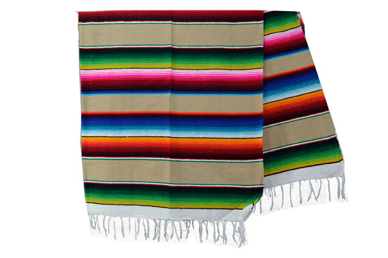 Couverture mexicaine -  Serape - XL - BBXZZ0beige1