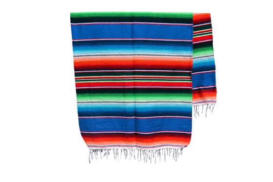Mexikanische Decke -  Serape - XL  - BBXZZ0blu