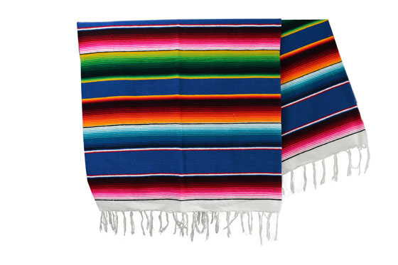 Couverture mexicaine -  Serape - XL - Blue - BBXZZ0blu2
