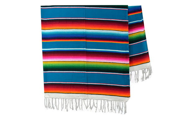 Couverture mexicaine -  Serape - XL - Blue - BBXZZ0blu5