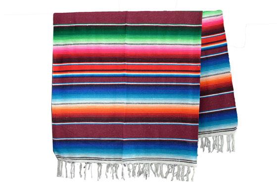 Couverture mexicaine -  Serape - XL - Brun - BBXZZ0brown1