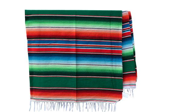 Mexicaanse deken - Serape - XL - Groen - BBXZZ0green