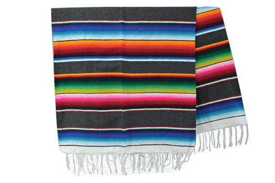 Couverture mexicaine -  Serape - XL - Gris - BBXZZ0grey1