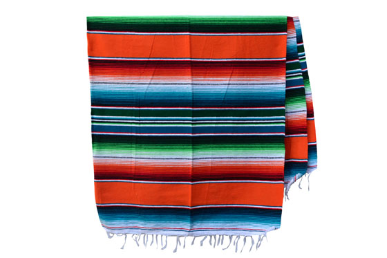 Couverture mexicaine -  Serape - XL - Orange