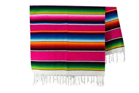 Couverture mexicaine -  Serape - XL - Rose - BBXZZ0pink1