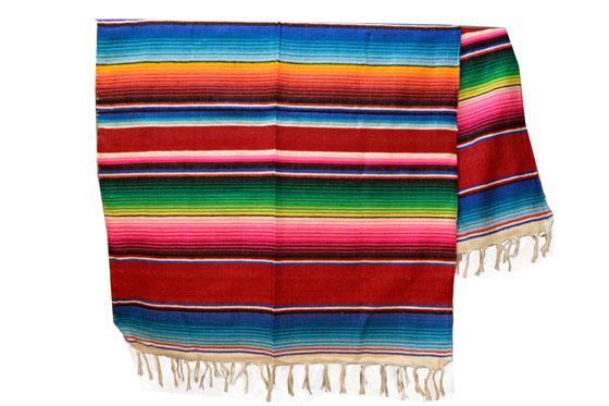Mexikanische Decke -  Serape - XL - Rot