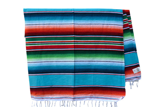 Mexican blanket - Serape - XL - Turquoise