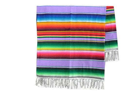Coperta messicana -  Serape -  XL -  Viola - BBXZZ0violet1