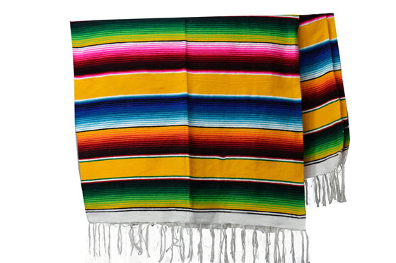 Couverture mexicaine -  Serape - XL - Jaune - BBXZZ0yellow1