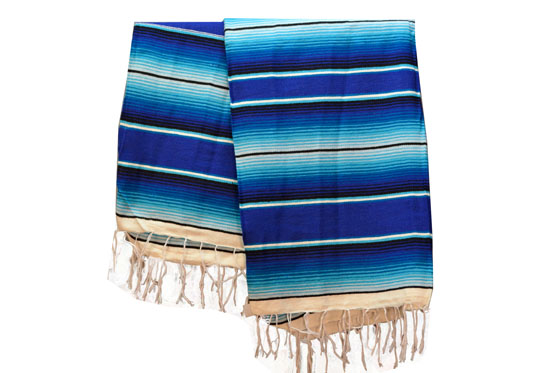 Couverture mexicaine -  Serape - XL - Blue - BBXZZ1blu5