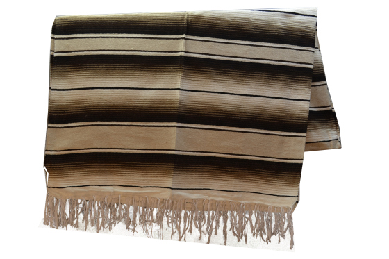 Mexican blanket - Serape - XL - Brown - BBXZZ1natbrown1