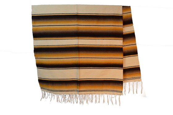 Mexikanische Decke -  Serape - XL  - BBXZZ1natgold1