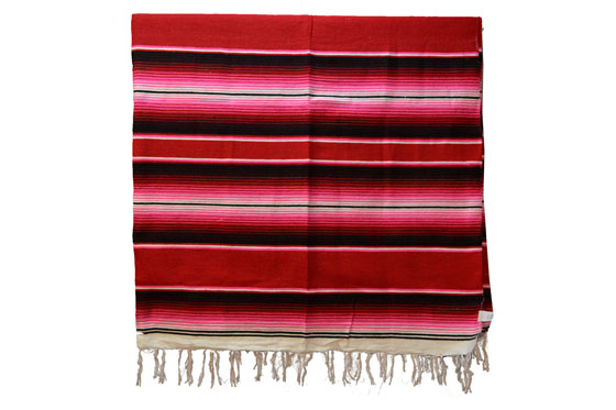 Mexican blanket - Serape - XL - Red - BBXZZ1red1