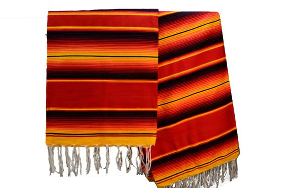 Mexican blanket - Serape - XL - Red - BBXZZ1redyellow1