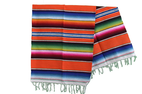 Couverture mexicaine -  Serape - L - Orange - BPXZZ0orange