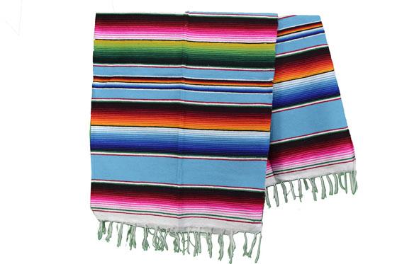 Couverture mexicaine -  Serape - L - Turquoise - BPXZZ0turq