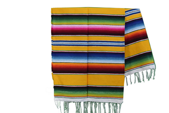 Couverture mexicaine -  Serape - L - Jaune - BPXZZ0yellow