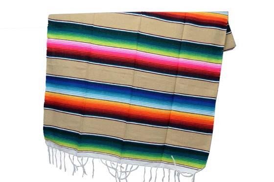 Mexicaanse deken - Serape - M - Bruin