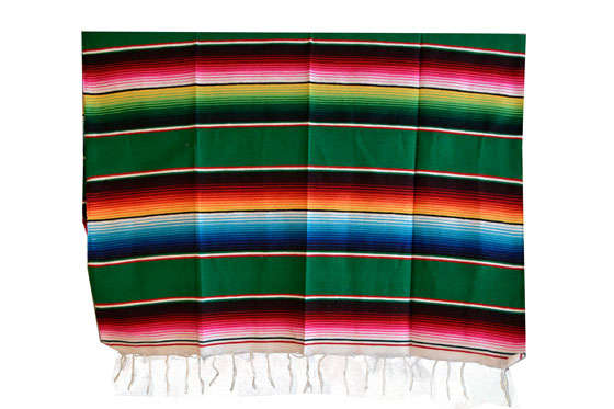 Mexican blanket - Serape - M - Green