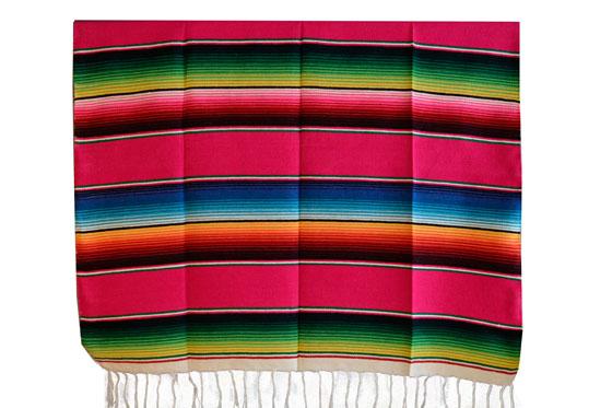 Mexican blanket,Serape. Pink