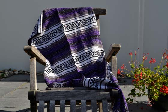Scarf Table runner,Falsa. Purple