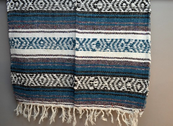 Scarf Table runner,Falsa. Blue