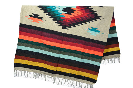 Mexican blanket, Indian. Brown