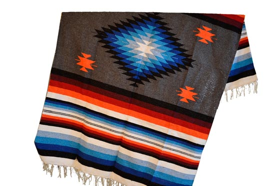 Mexican blanket,Indian. Grey