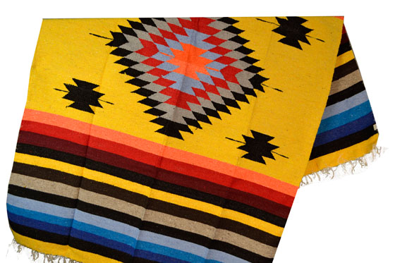 Mexican blanket, Indian. Yellow
