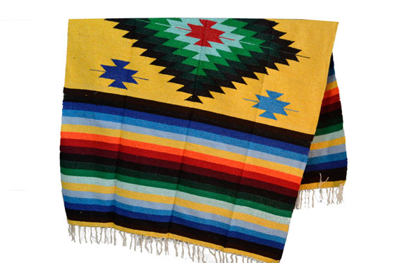 Mexican blanket - indian - L - Yellow