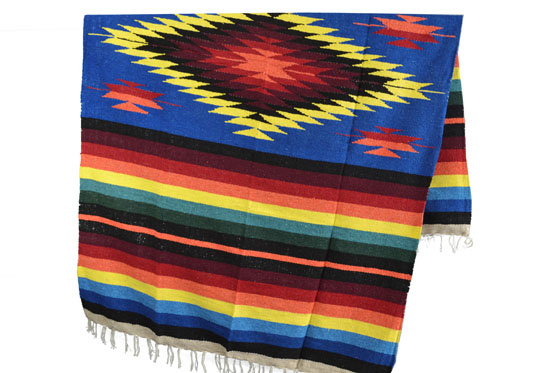 Mexican blanket - indian - L - Blue - EEXZZ0DGblu