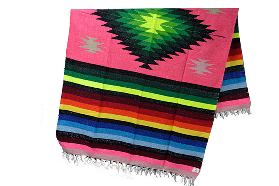 Mexican blanket - indian - L - Pink