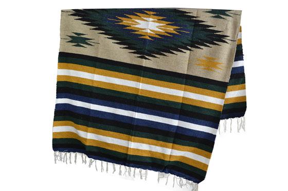 Mexicaanse deken - Indianen - L - Naturel - EEXZZ1DGbeigeyellow