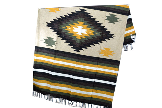 Mexican blanket - indian - L - Naturel - EEXZZ1DGbeigeyellow1
