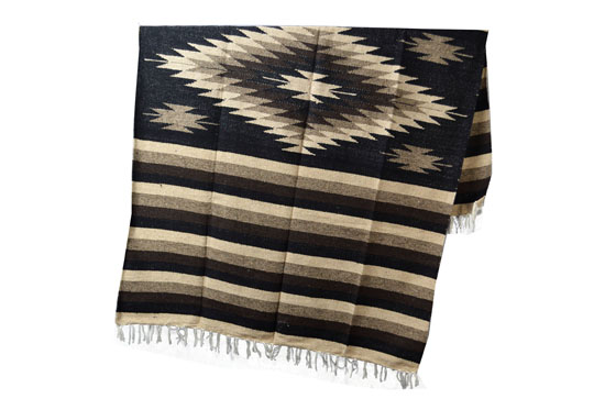 Mexican blanket - indian - L - Black - EEXZZ1DGblackbrown