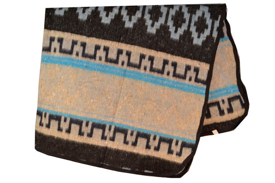 Mexican blanket, Indian. Blue