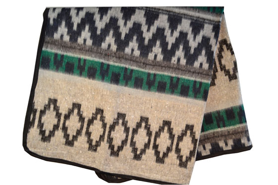 Mexican blanket, Indian. Green