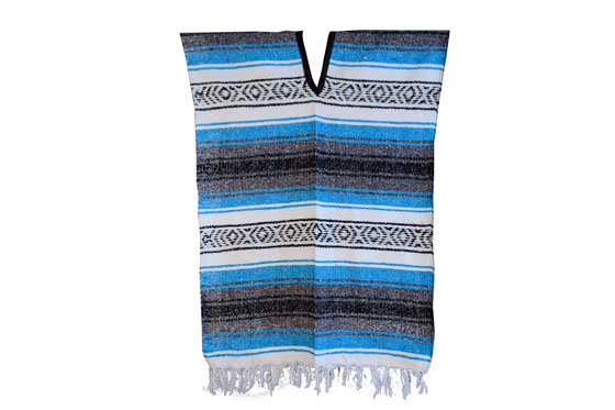 Mexican Poncho - Falsa - M - Blue