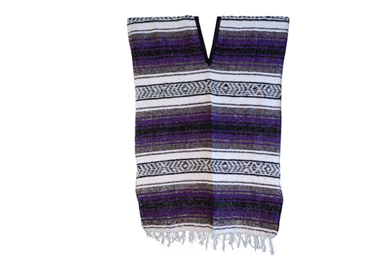 Poncho mexicain -  Falsa - M - Violet - FILZZ0purple