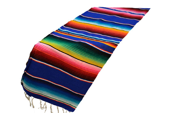 Scarf   Table runner,Serape. Blue